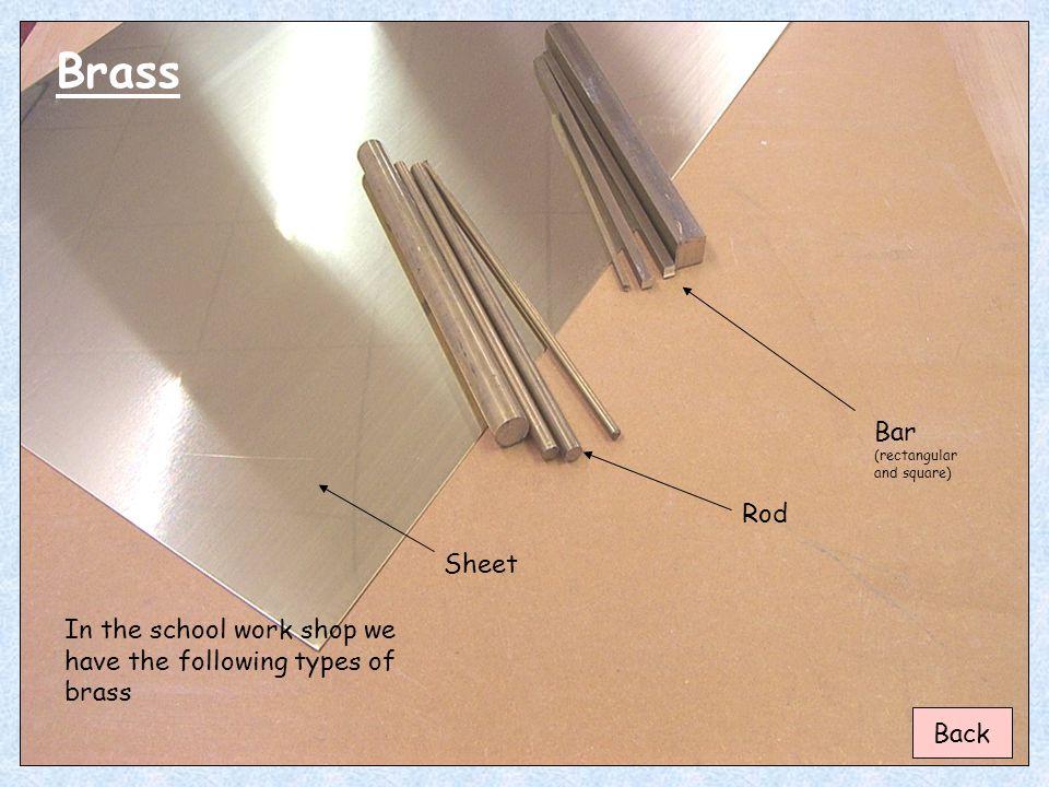 Brass Bar (rectangular and square) Rod Sheet