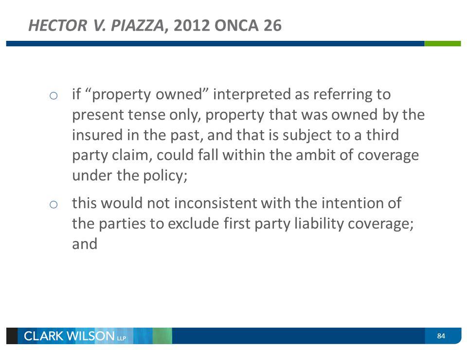 HECTOR V. PIAZZA, 2012 ONCA 26