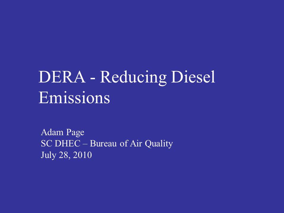 DERA - Reducing Diesel Emissions