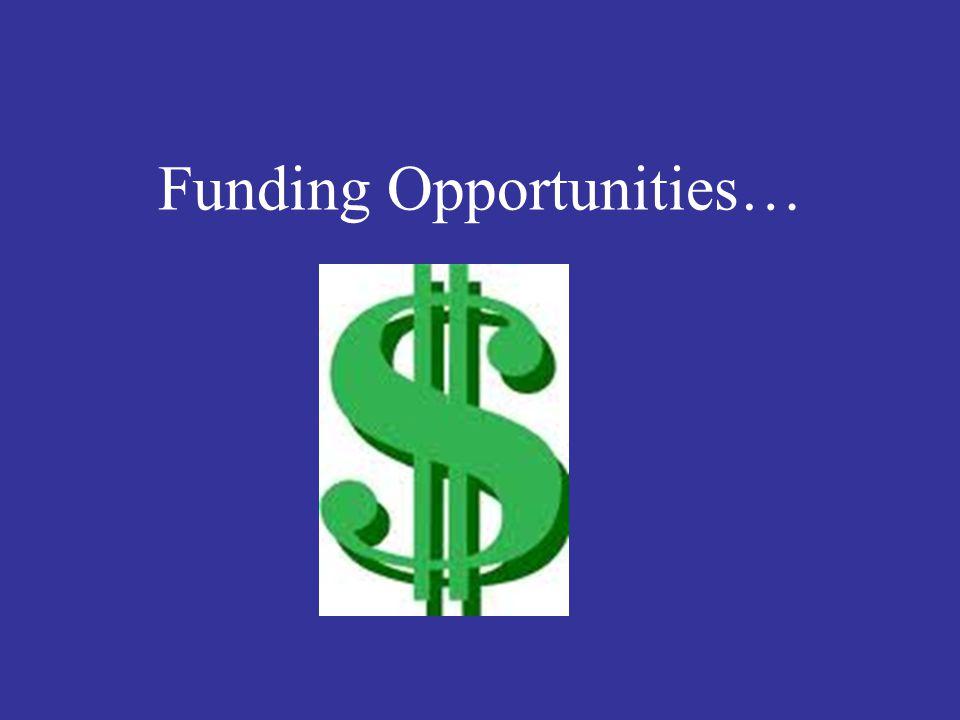 Funding Opportunities…