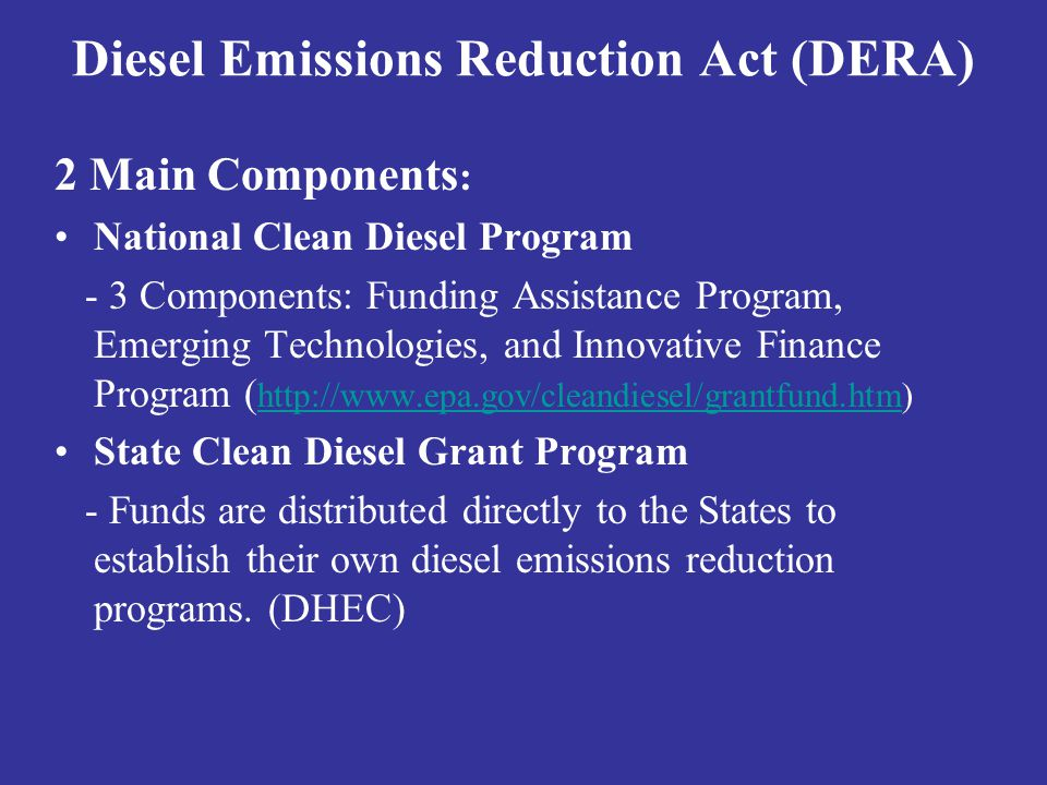 Diesel Emissions Reduction Act (DERA)