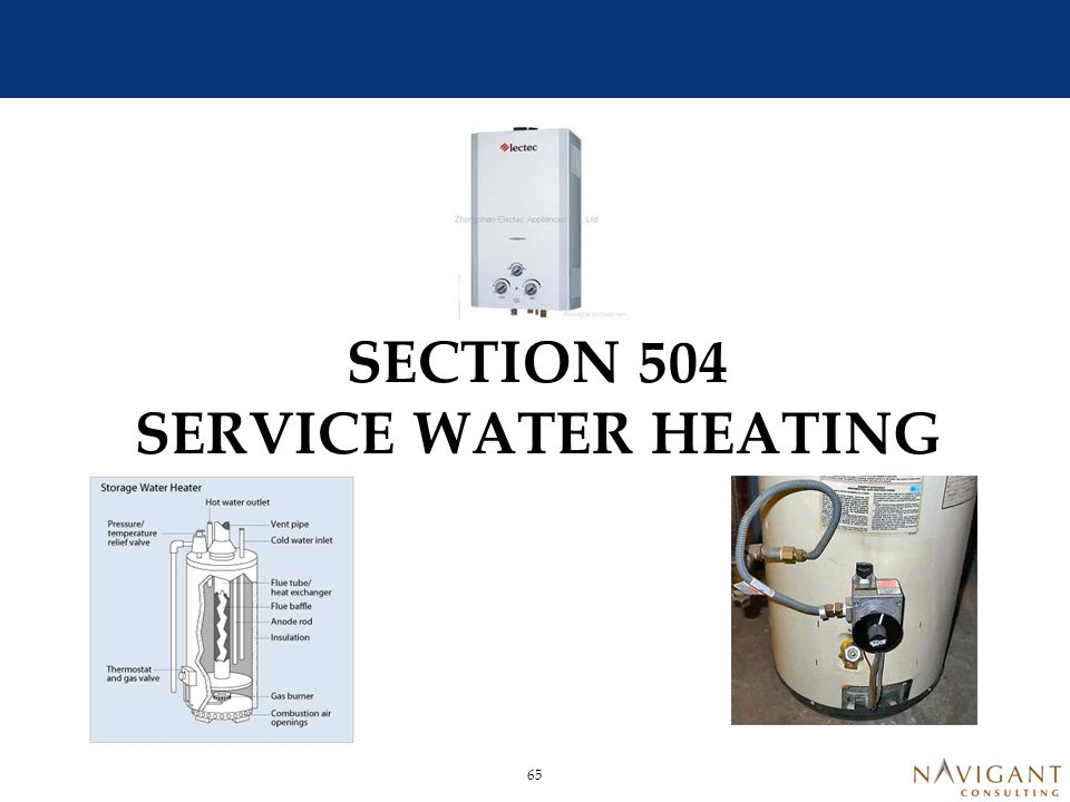 Service Water Heating 504.1.1 Electrical Water Heating Limitation