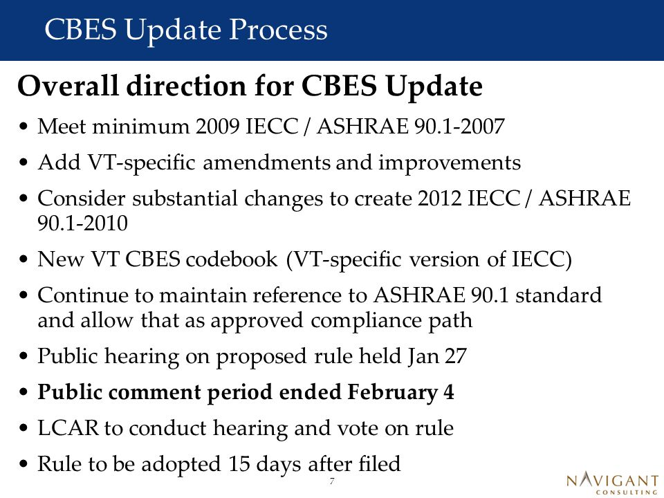 CBES Update Process Where are Commercial Codes Headed