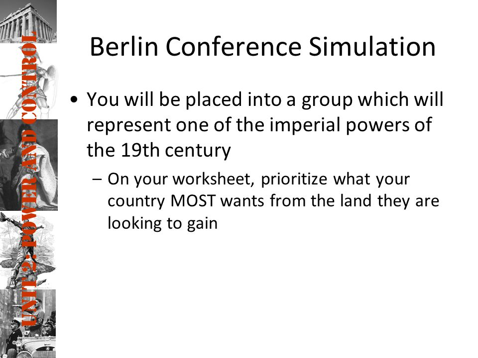 Berlin Conference Simulation