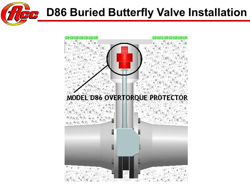 D86 Buried Butterfly Valve Installation