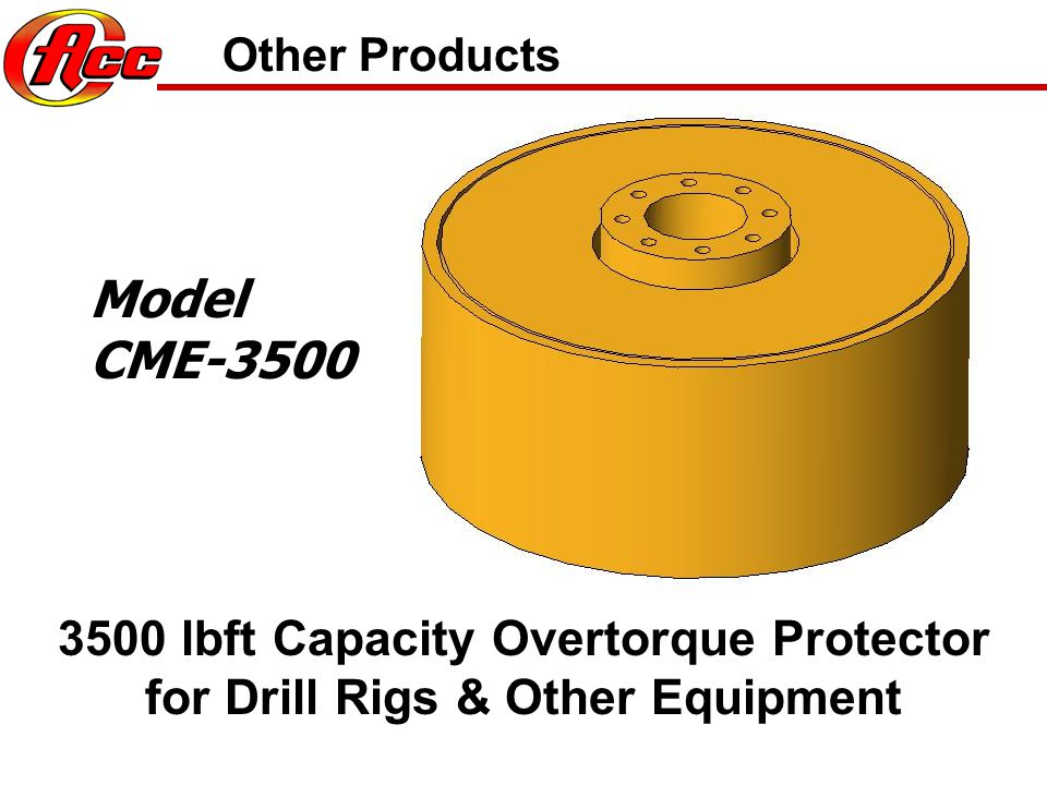 Other Products Model. CME-3500.