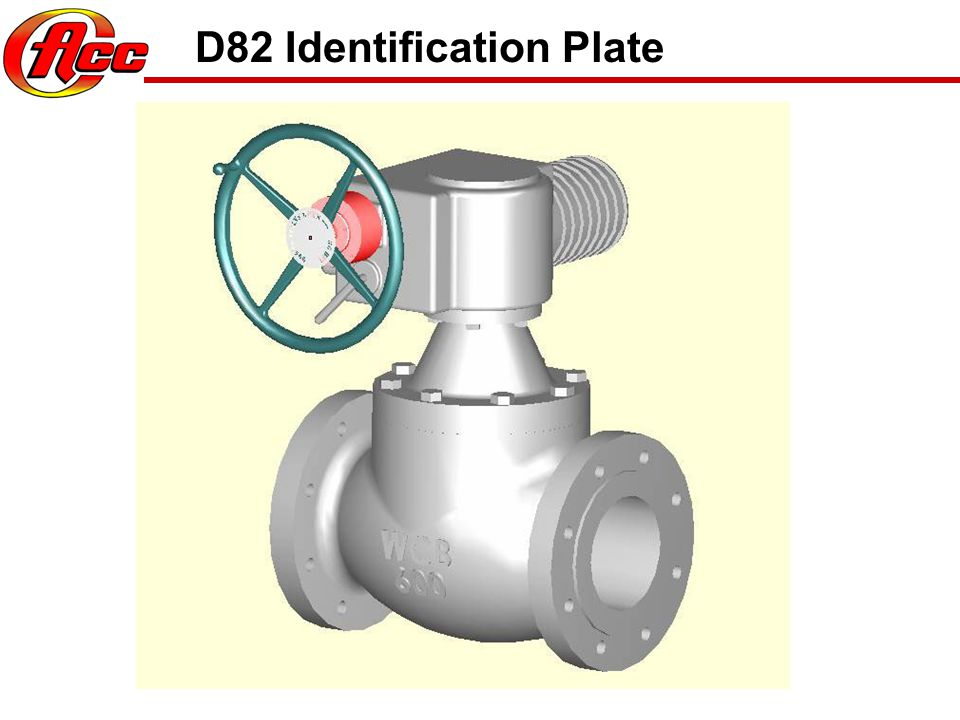 D82 Identification Plate