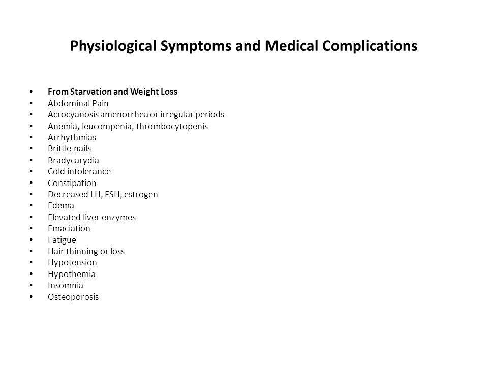 Physiological Symptoms and Medical Complications