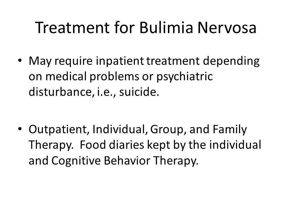 Treatment for Bulimia Nervosa