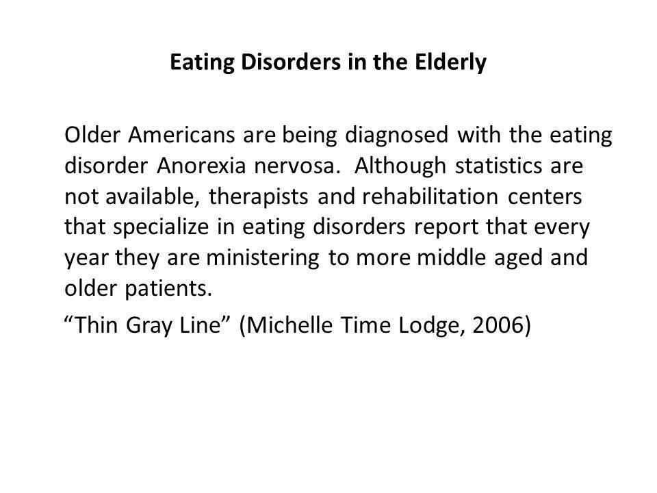 Eating Disorders in the Elderly