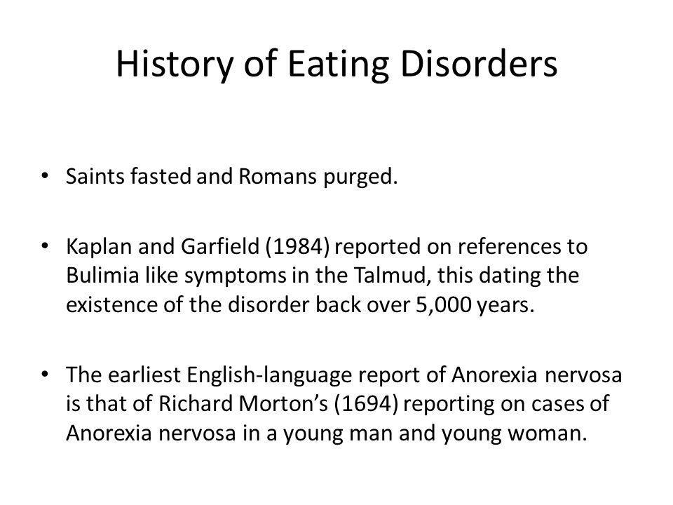 History of Eating Disorders