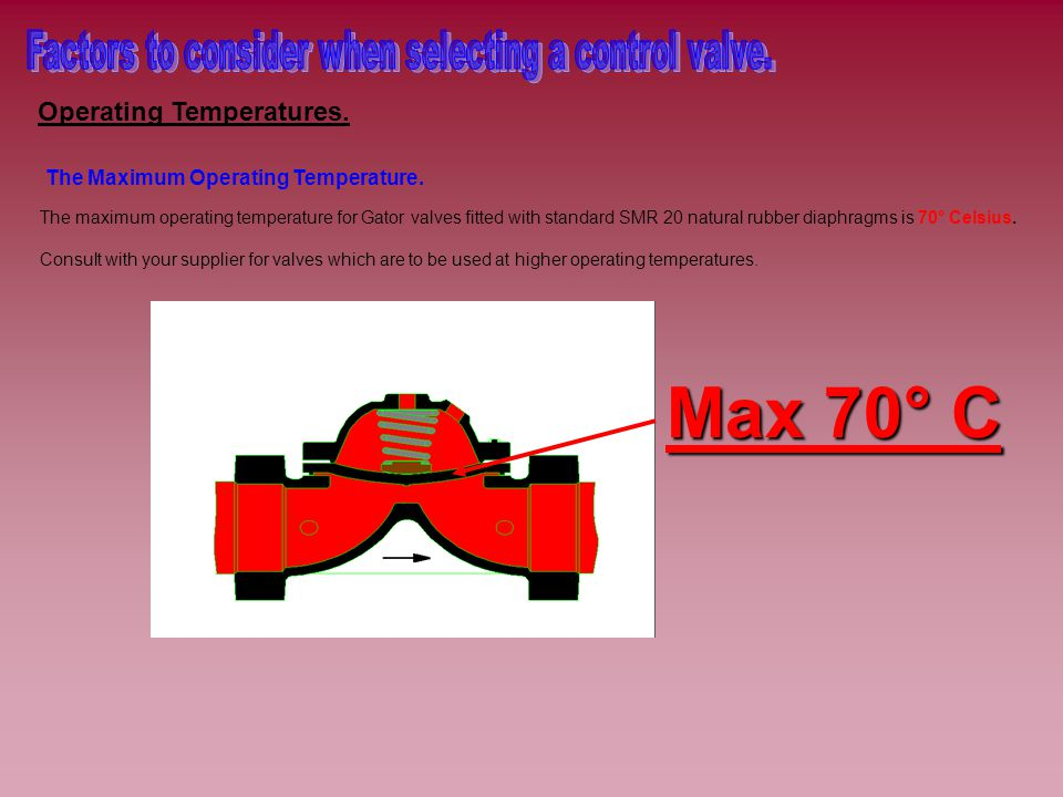 Operating Temperatures. The Maximum Operating Temperature.