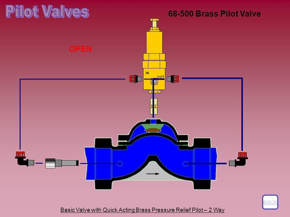 Pilot Valves 68-500 Brass Pilot Valve OPEN