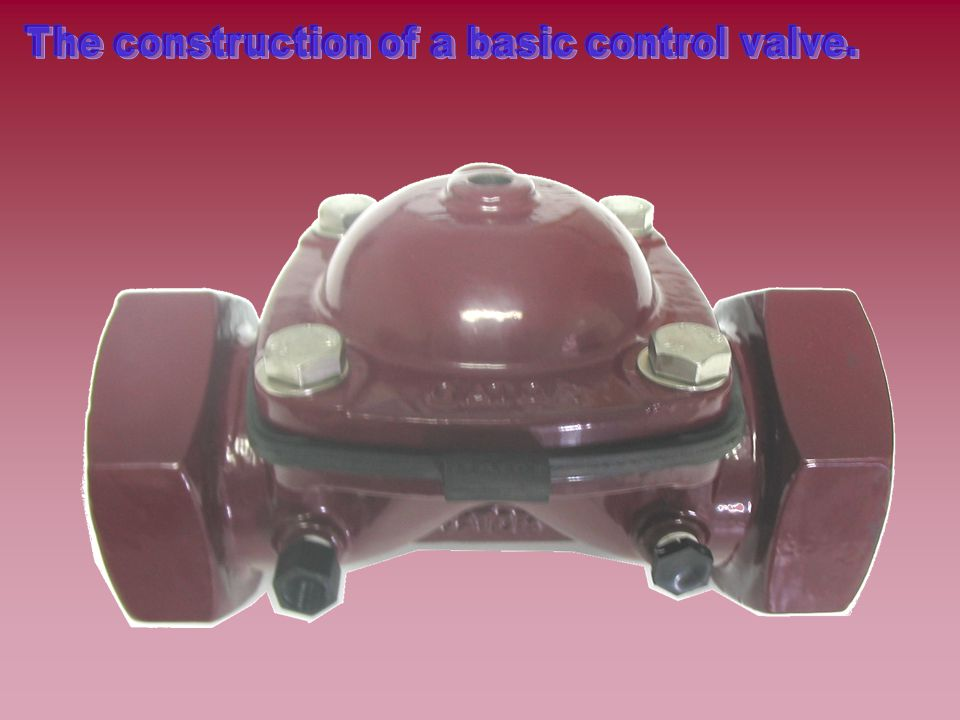 The construction of a basic control valve.