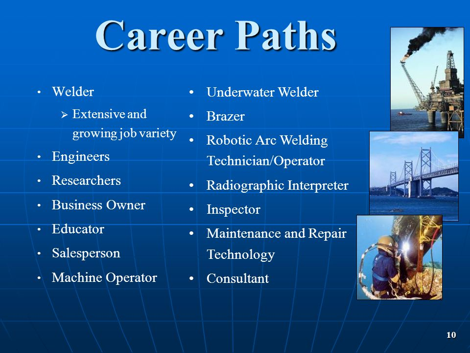 Career Paths Welder Underwater Welder Brazer
