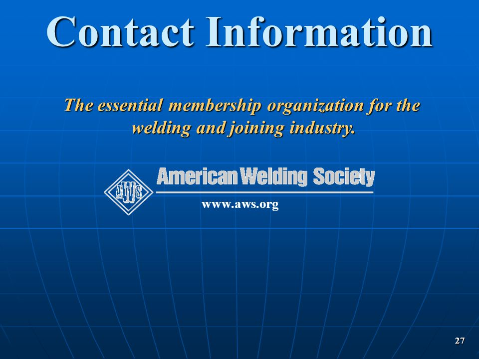 Contact Information The essential membership organization for the.