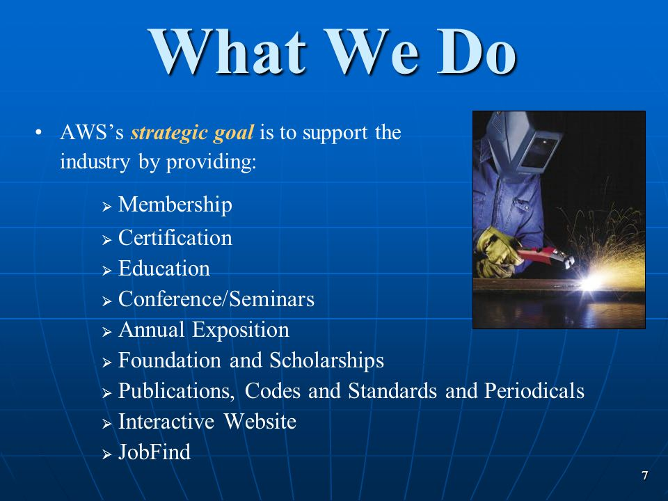 What We Do Membership Certification Education Conference/Seminars