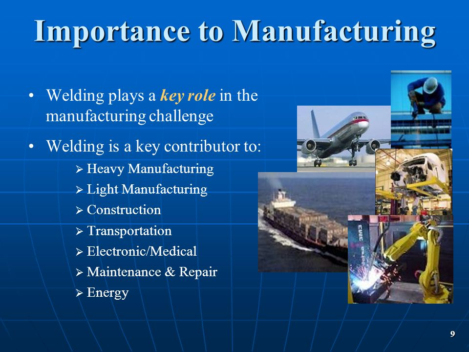 Importance to Manufacturing