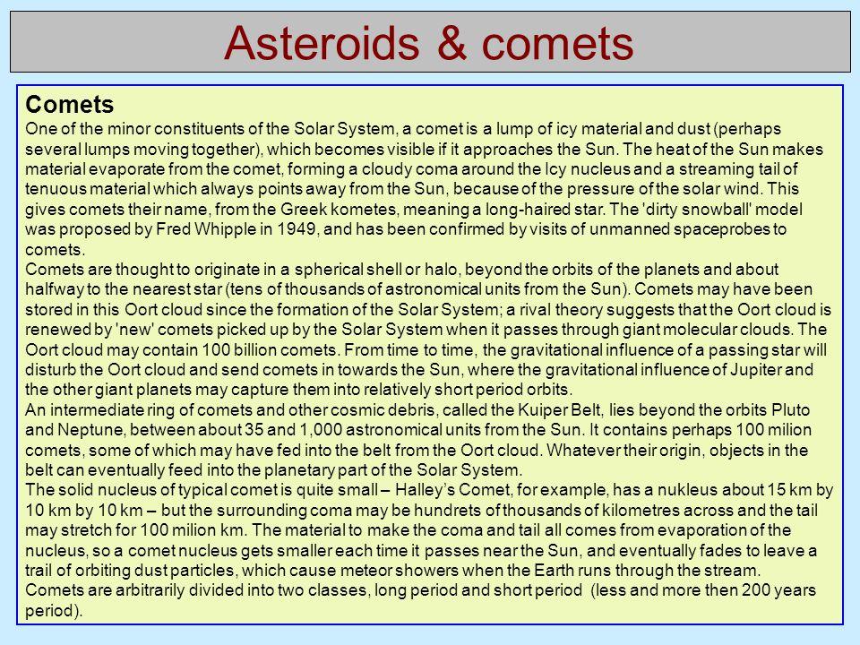 Asteroids & comets Comets