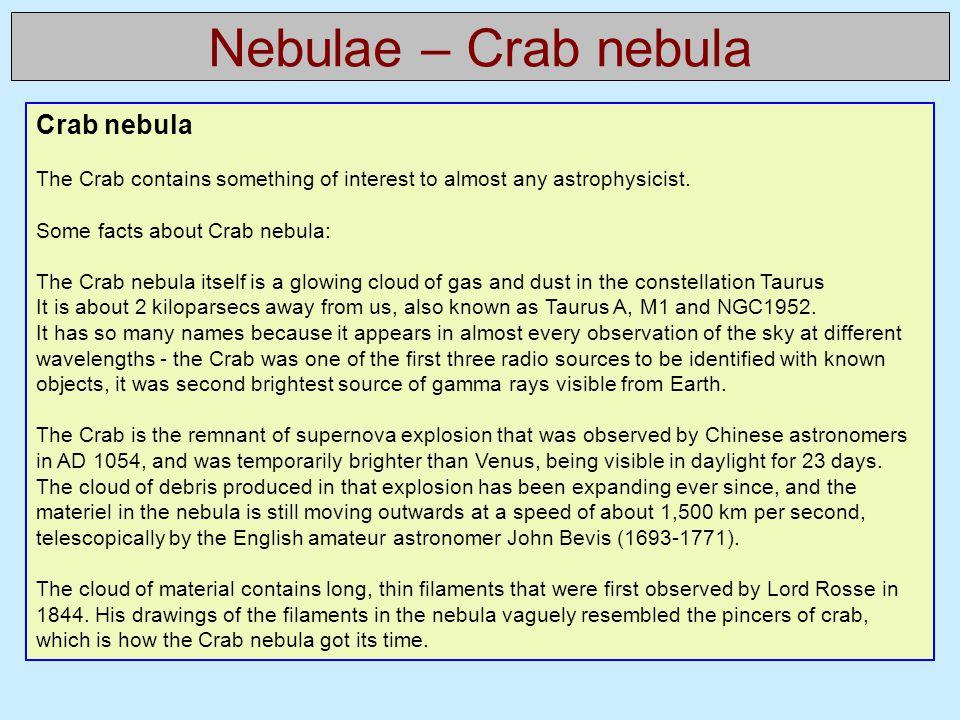 Nebulae – Crab nebula Crab nebula