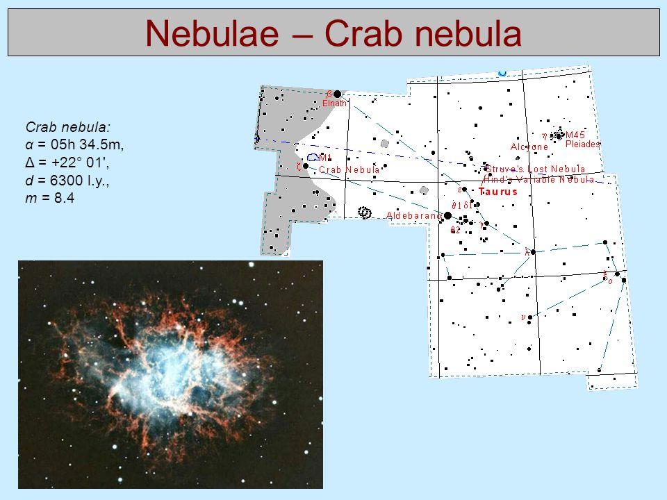 Nebulae – Crab nebula Crab nebula: