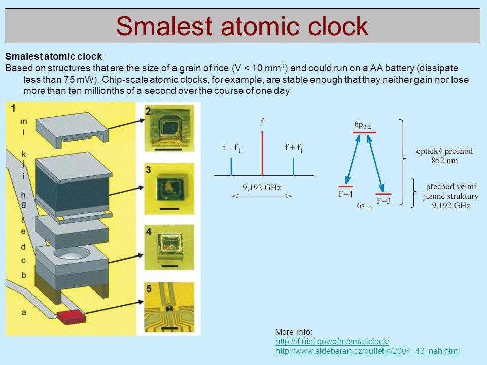 Smalest atomic clock Smalest atomic clock