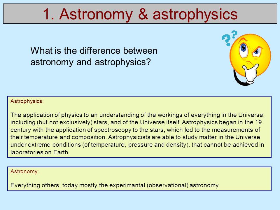 1. Astronomy & astrophysics