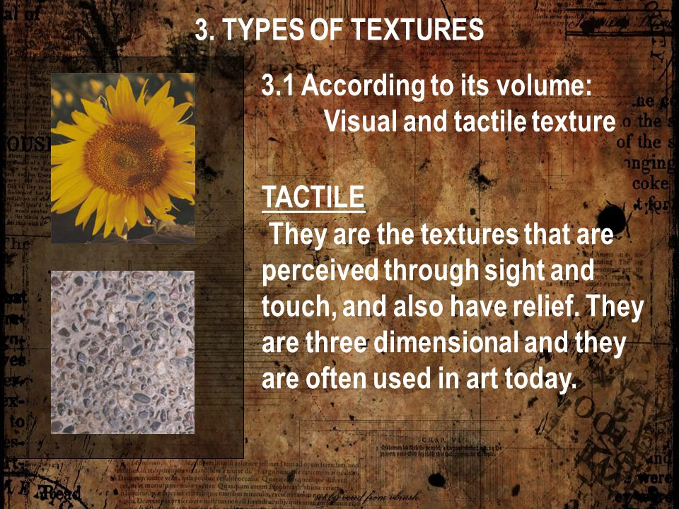 Visual and tactile texture
