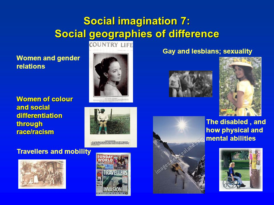 Social imagination 7: Social geographies of difference