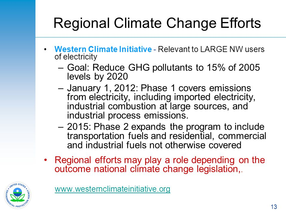 Regional Climate Change Efforts