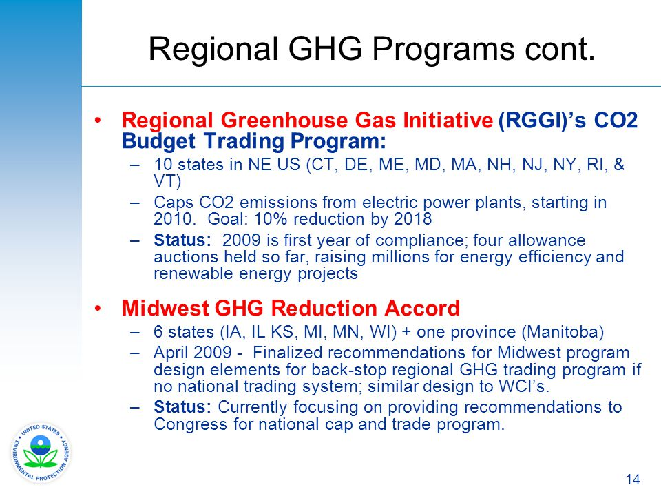 Regional GHG Programs cont.
