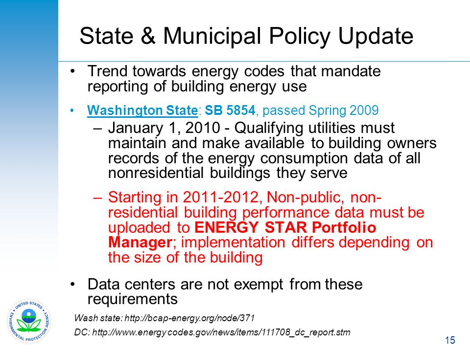State & Municipal Policy Update