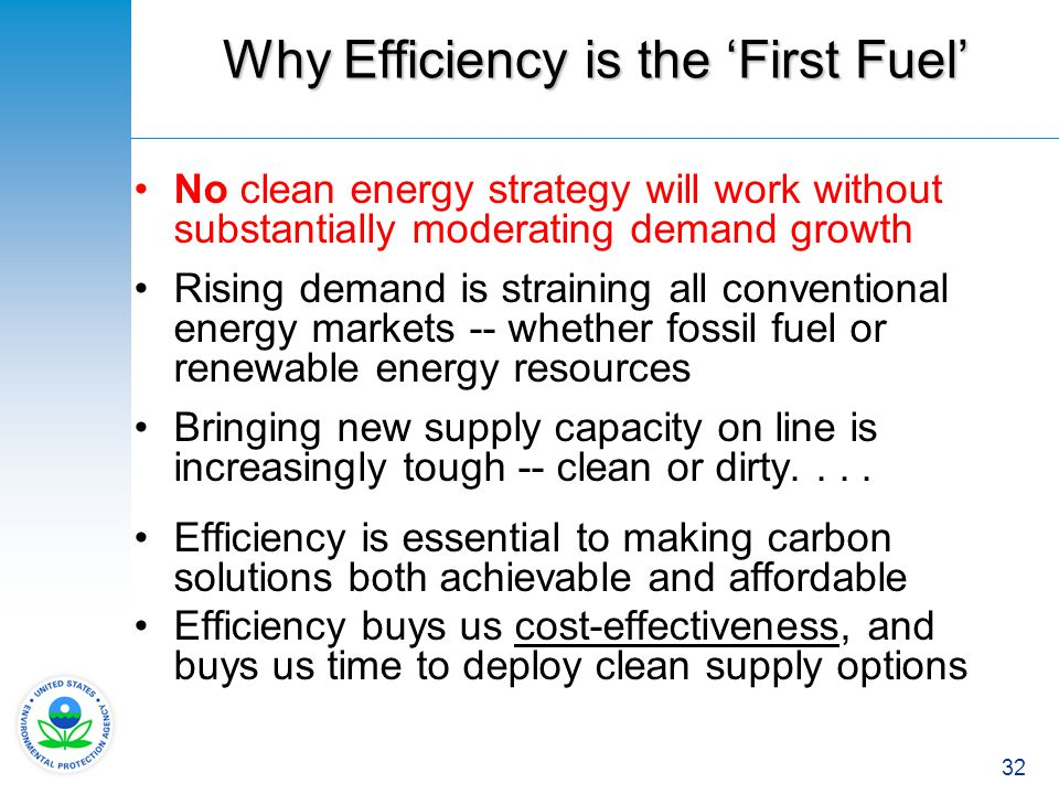 Why Efficiency is the 'First Fuel'