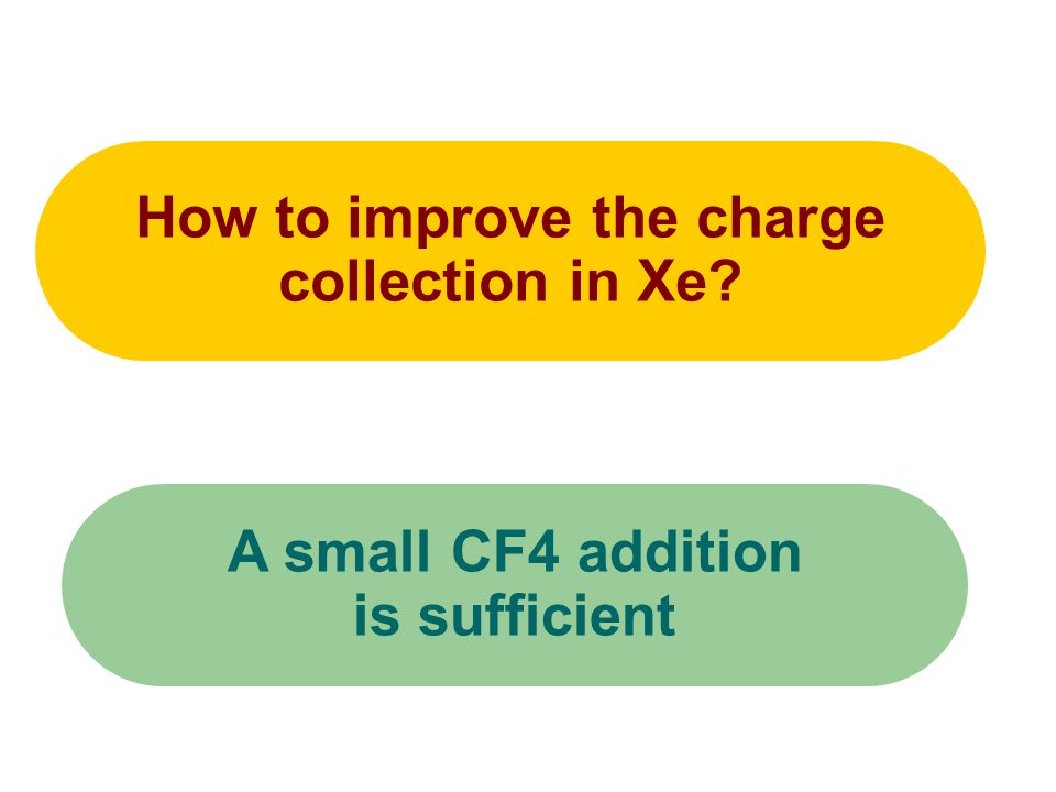 How to improve the charge collection in Xe