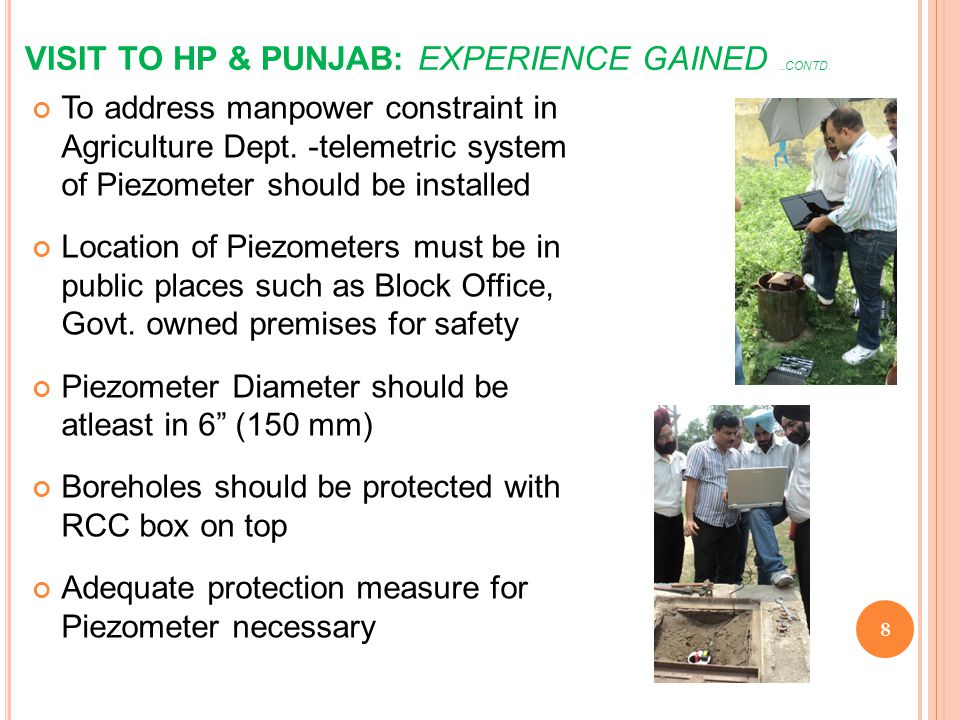 VISIT TO HP & PUNJAB: EXPERIENCE GAINED ..CONTD.