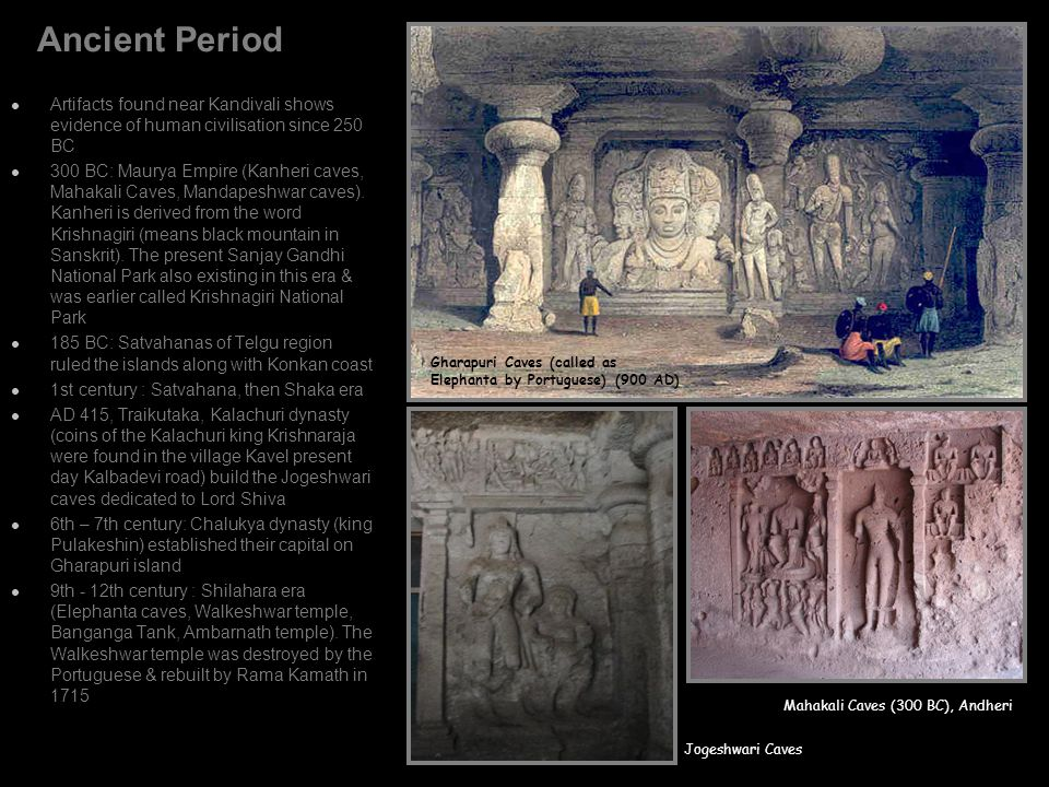 Ancient Period Artifacts found near Kandivali shows evidence of human civilisation since 250 BC.