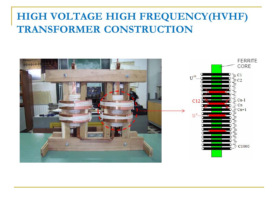 HIGH VOLTAGE HIGH FREQUENCY(HVHF) TRANSFORMER CONSTRUCTION