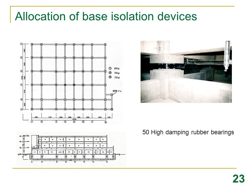 Allocation of base isolation devices