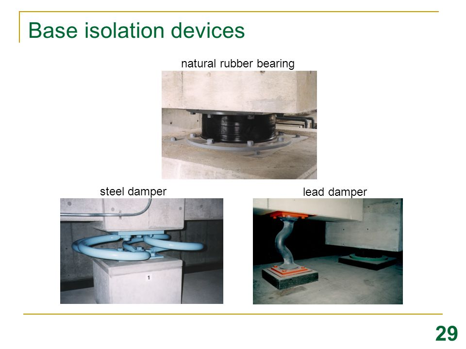 Base isolation devices