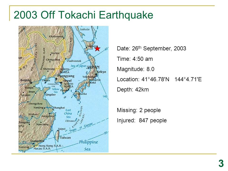 2003 Off Tokachi Earthquake