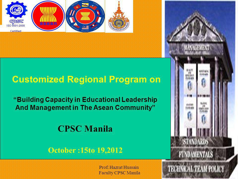 Customized Regional Program on