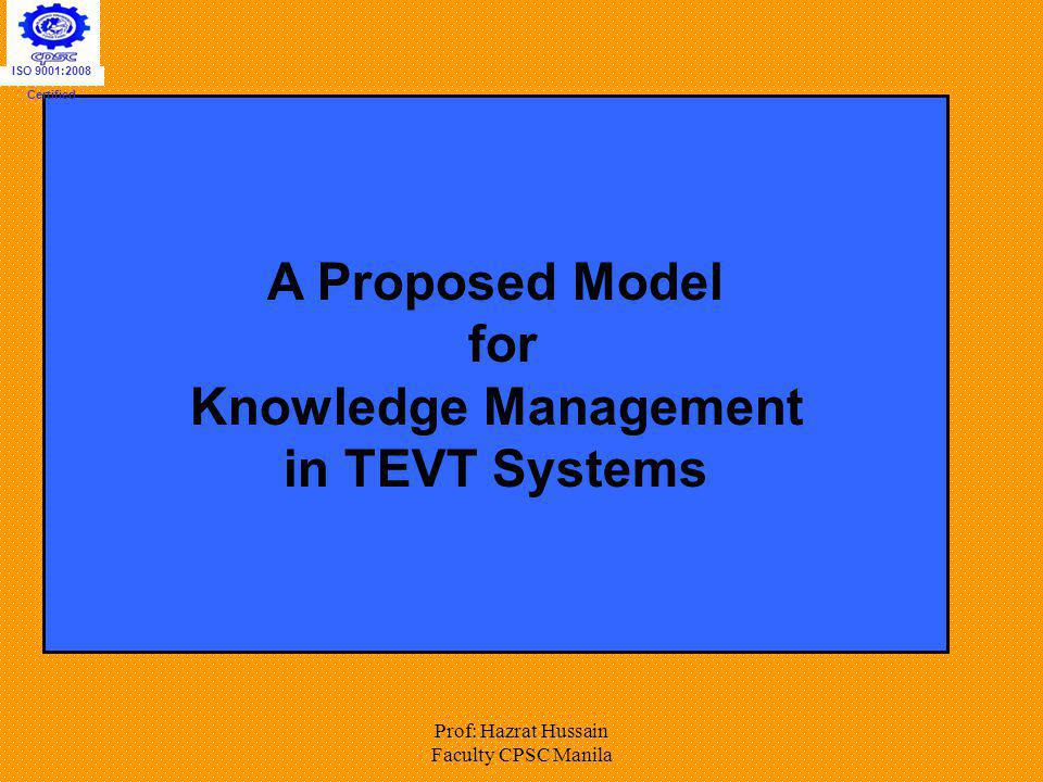 A Proposed Model for in TEVT Systems