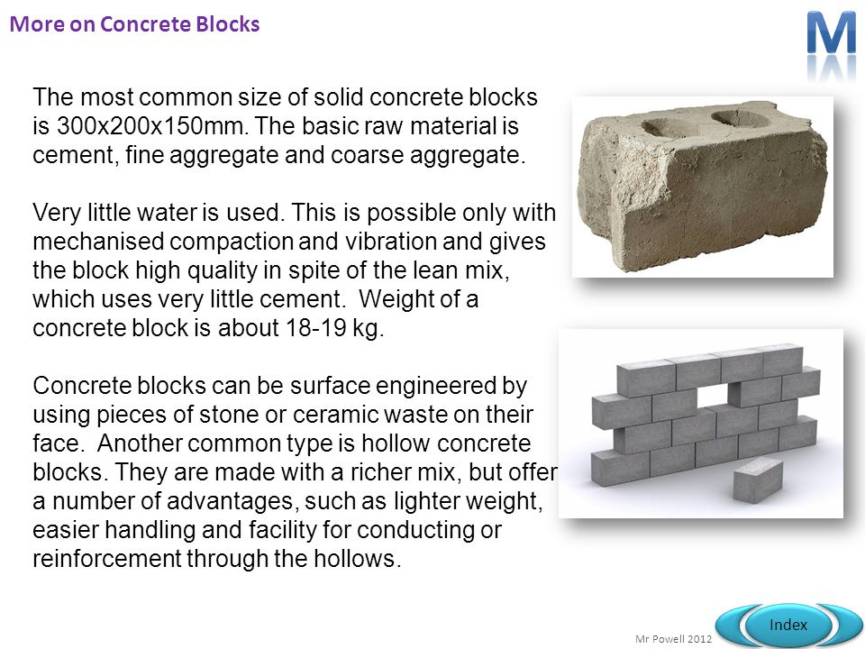 More on Concrete Blocks