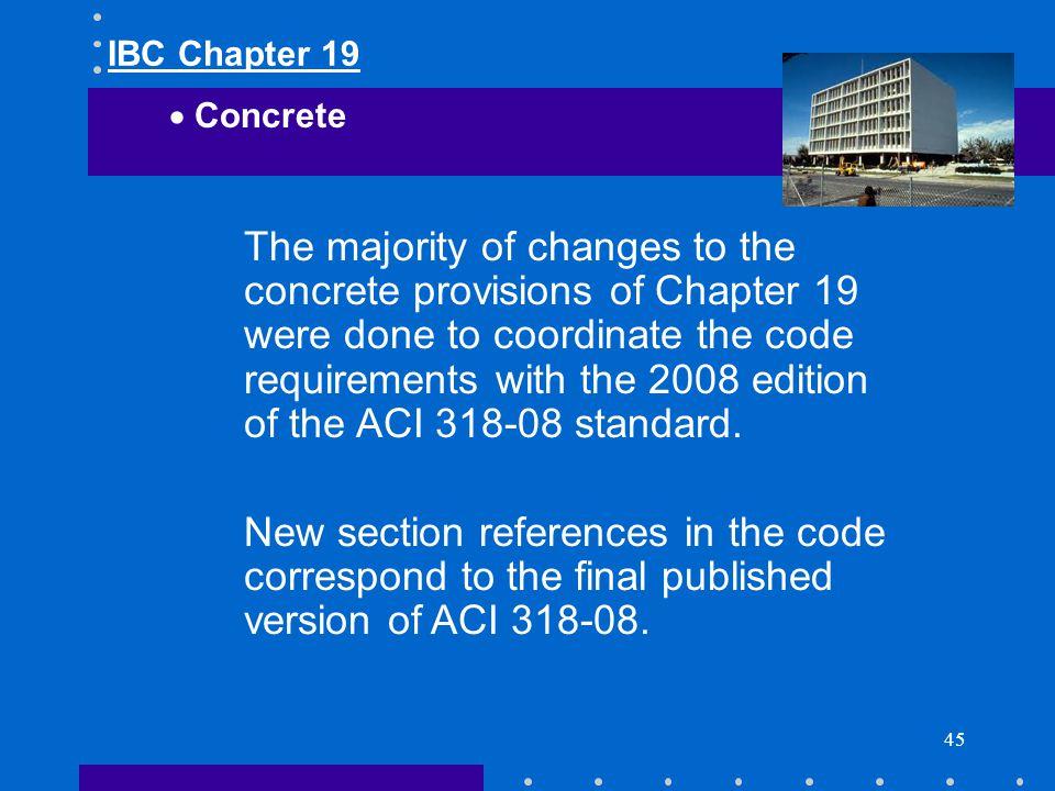 IBC Chapter 19 Concrete.