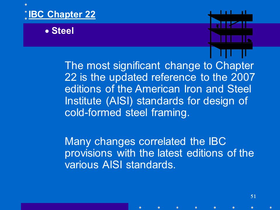 IBC Chapter 22 Steel.