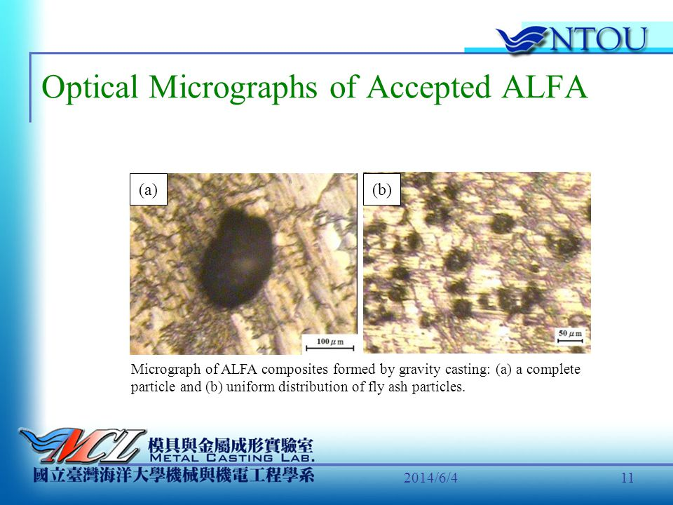Optical Micrographs of Accepted ALFA