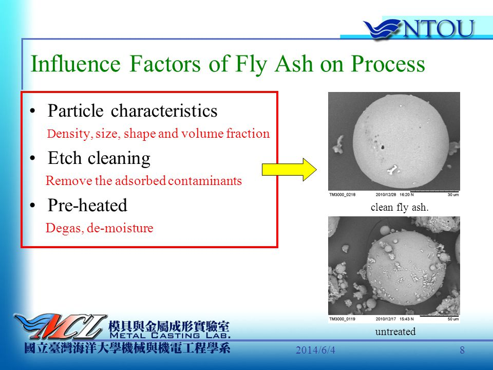 Influence Factors of Fly Ash on Process