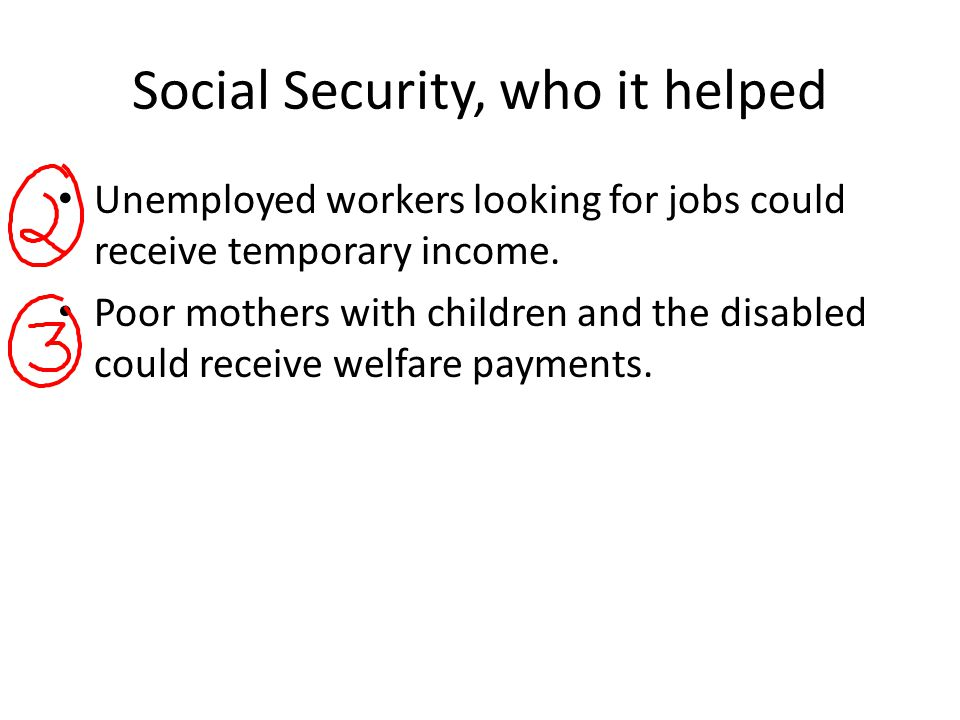 Social Security, who it helped