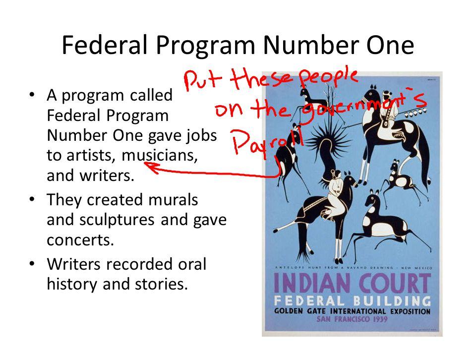 Federal Program Number One