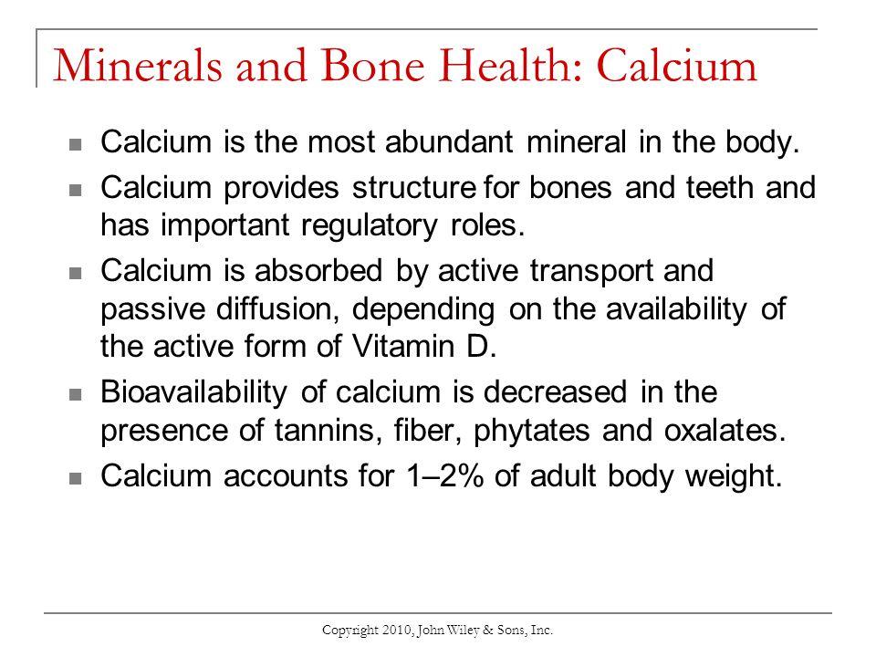 Minerals and Bone Health: Calcium
